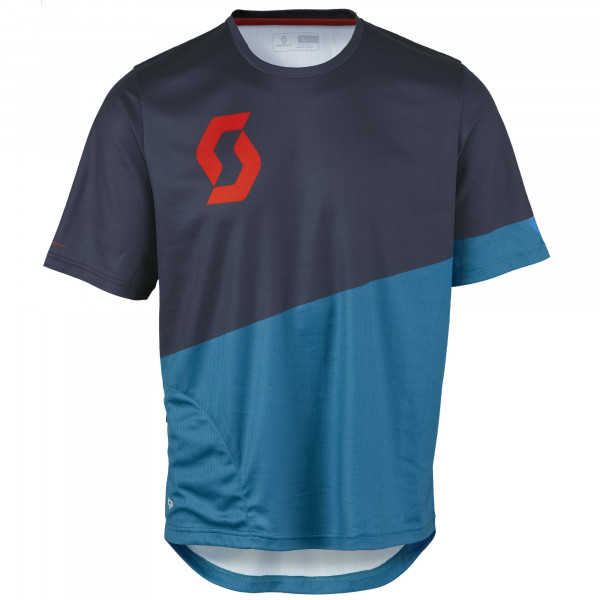 Progressive Pro S/SL Shirt Trikot Seaport Blue/Fiery Red