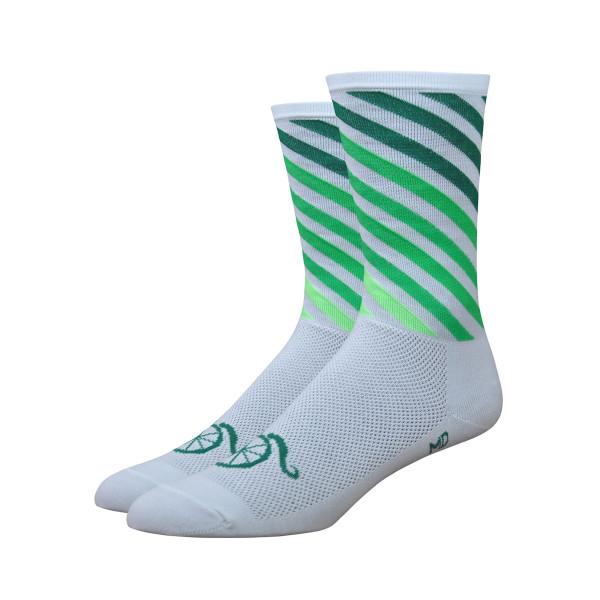 Aireator Socken - Handlebar Mustache - Weiss/Grün