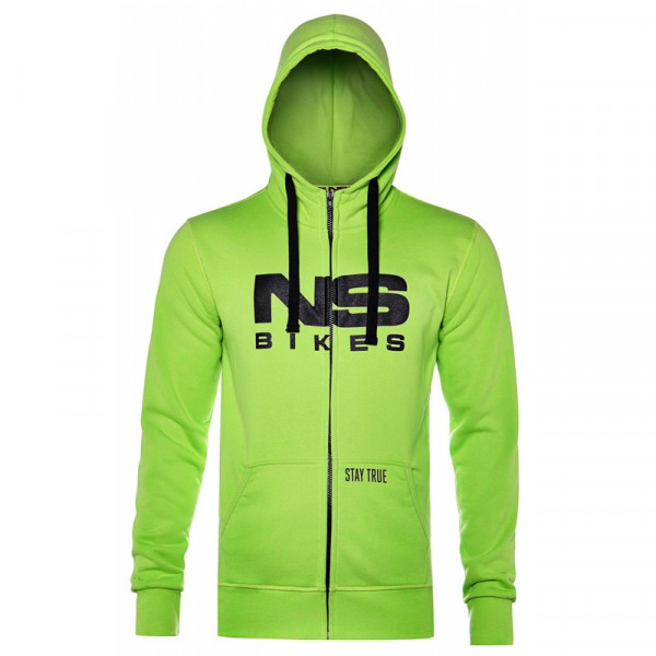 High Neck Hoody Green