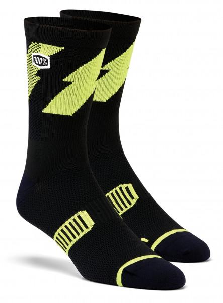 Bolt Performance Socken - lime/black
